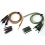 Fox Kwik Change Lead Clip Rigs On Tubing Green And Brown